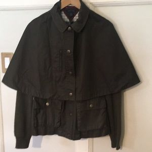 Tommy Hilfiger Army Green Jacket w/removable cape